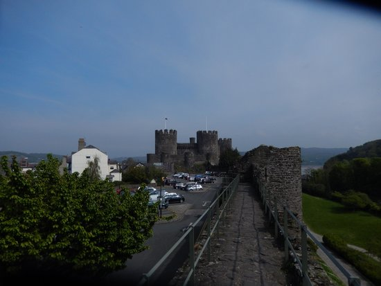 The medieval wall to Conwy Castle