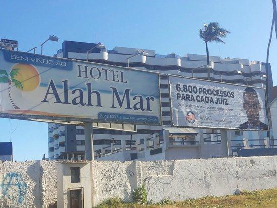 Hotel Alah Mar: Fachada lateral do Hotel