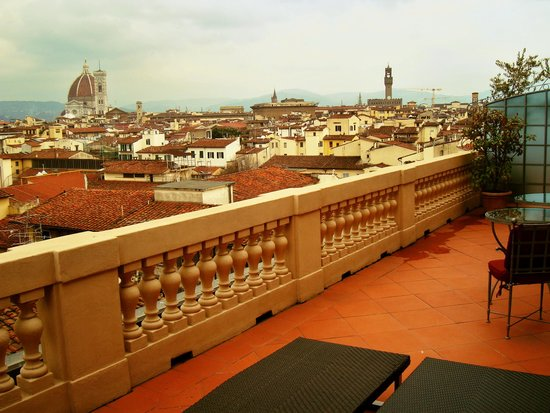 The Westin Excelsior Florence: view for the city from our balcony
