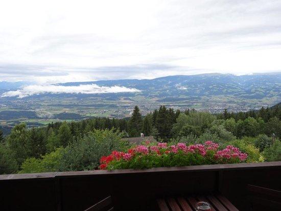 Alpengasthof Wolfgruber: Uitzicht vanaf het balkon