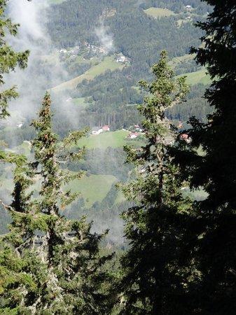 Alpengasthof Wolfgruber: Wolfgruber vanaf de Panoramaweg