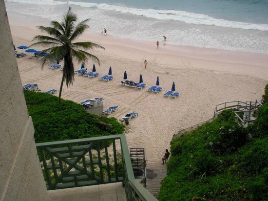 The Crane Resort: The Crane's private beach looking from above.