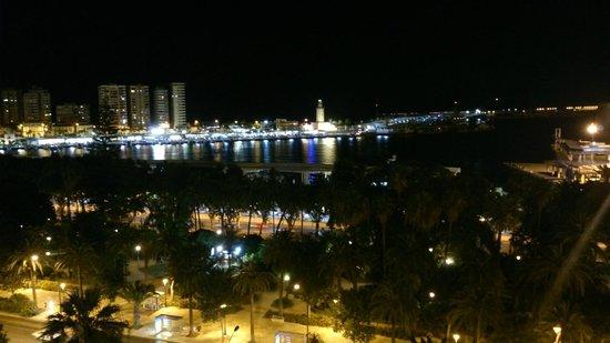 AC Hotel Malaga Palacio: Panorama dal balcone della camera