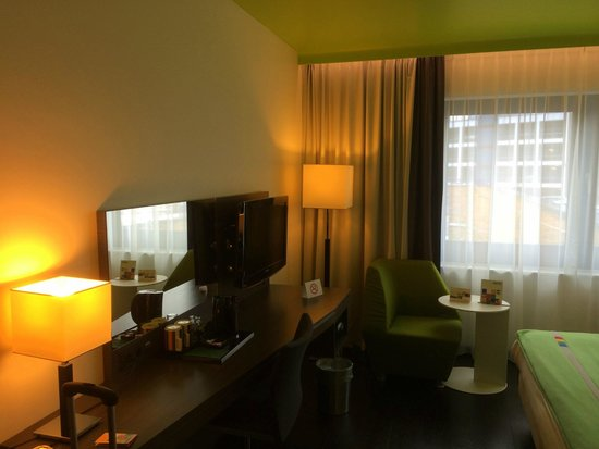 Park Inn by Radisson Luxembourg City : Room at the backside of the hotel