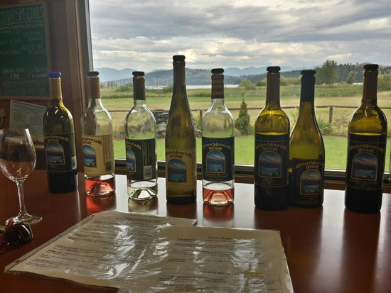 Mission Mountain Winery: Tasting with a view of Flathead Lake!