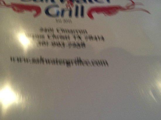 Saltwater grill menu corpus christi