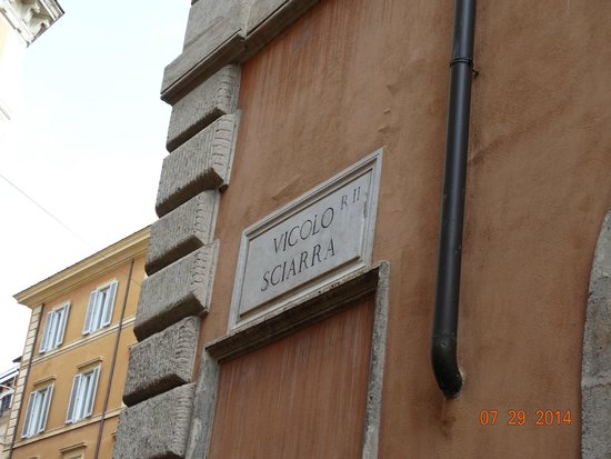 Ristorante Da Diego: Street sign at restaurant