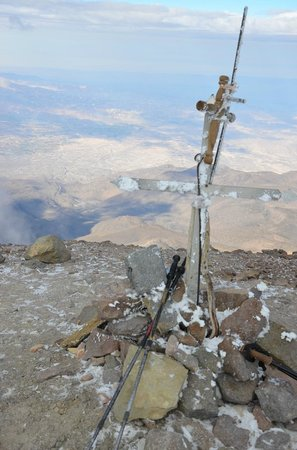 Chachani: Summit with view to Arequpa.
