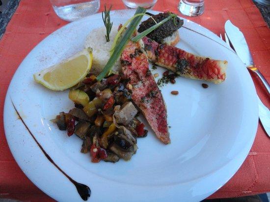 Hotel Le Porto: le rouget, délicieux