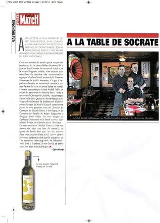 Le Socrate: article Paris Match Suisse