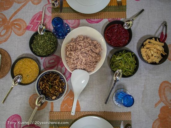 Templeberg Villa: Our epic vegetarian feast cooked with Trixie.