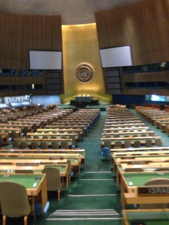 United Nations Headquarters: main hall.