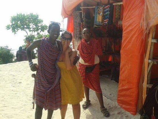 Mnarani Beach Cottages: Ugooo il masai