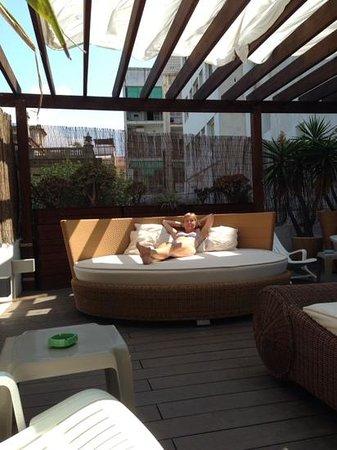 Hotel Platjador: huge sunbeds