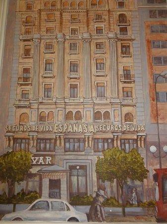 Hospedaje Romero: the foyer painting of the building