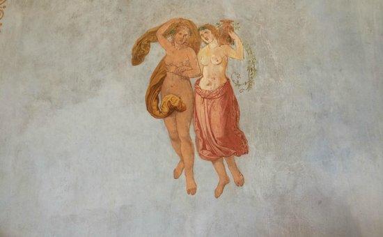 """Roseninsel: Detalle de la decoración del """"Casino"""""""