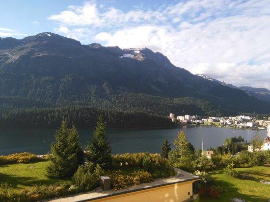 Kulm Hotel St. Moritz : Vista delle camere a sud