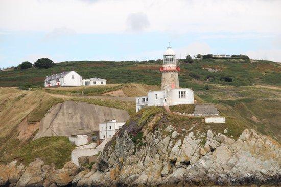 Howth Head: bailey lighthouse from the sea