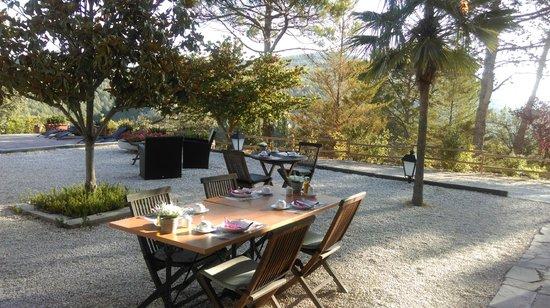 Casa Bons Aires: terrasse petit déjeuner avec la vue