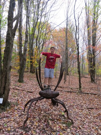 Griffis Sculpture Park: in the woods