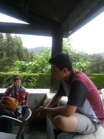 Pumariño: Despues de comer..cafe en la terracita