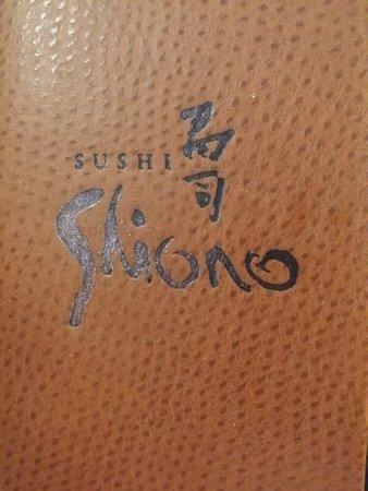 Sushi Shiono: Menu front