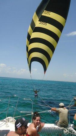 Maroma Adventures: parasailing