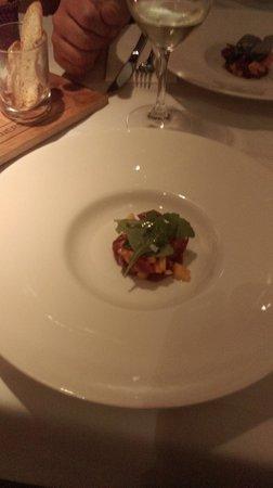 La Salvaora: tartare de thon, melon et gingembre