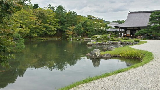 Giardino Zen Laghetto Foto Di Tenryuji Temple Kyoto