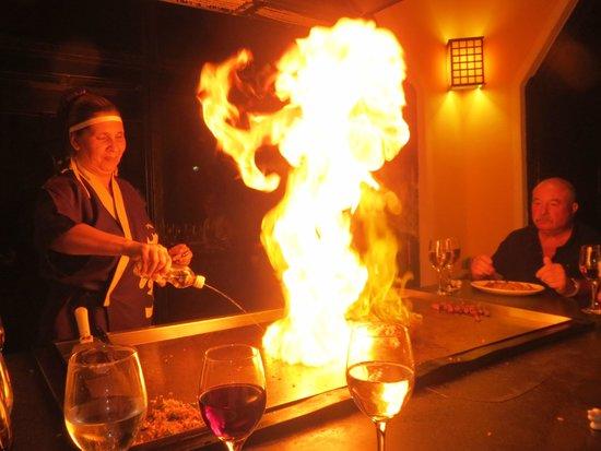Hotel Playa Costa Verde: Jacqueline and the Japanese restaurante