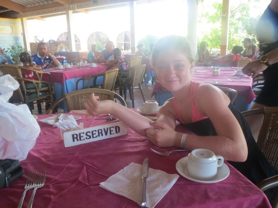 Hotel Playa Costa Verde: Our table reserved for one morning, felt like VIP!!!
