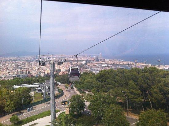 Parc de Montjuic : Vista dalla funivia