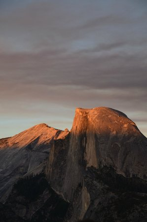 clouds rest & half dome from glacier point