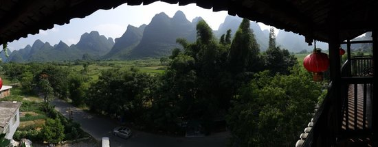 Yangshuo Tea Cozy : View from Floor 5 Bar
