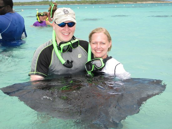Sandals Grande Antigua Resort & Spa : swimming with stingrays in the Atlantic