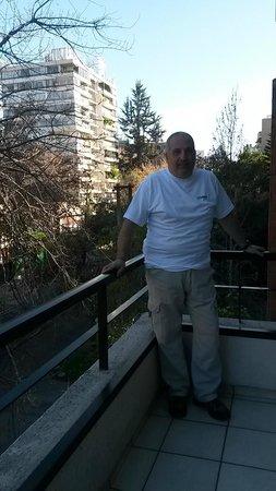Presidente Edificio Santiago: En el balcon de la habitacion