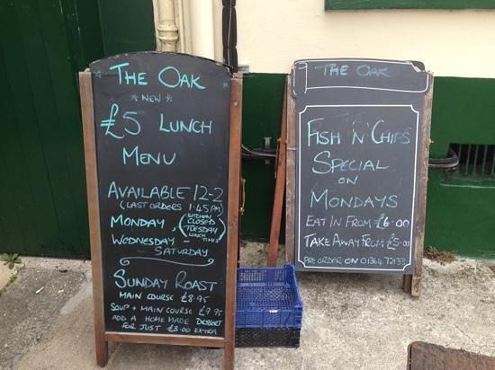 "The Oak Inn: the ""A"" boards"