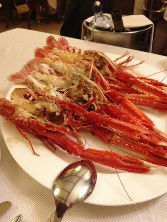 Restaurante Asador D'berto : Las cigalas eran de tamaño mediano, pero de sabor increíble