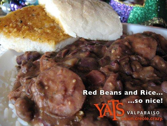 Yats Valparaiso: Red Beans & Rice with Smoked Pork Sausage