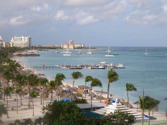 Aruba Marriott Resort & Stellaris Casino: view to the south from balcony