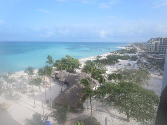 Aruba Marriott Resort & Stellaris Casino: View to the north from balcony