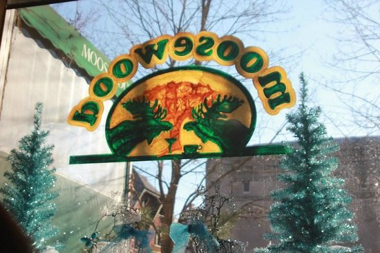 Moosewood Restaurant: The Moosewood sign taken from the inside