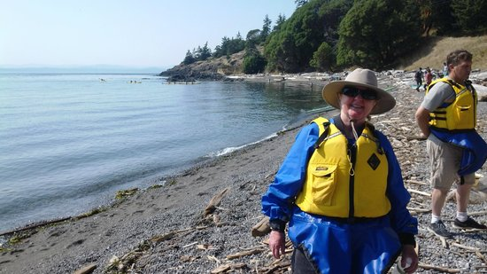 Discovery Sea Kayaks : Mom!  Having the time of her life.