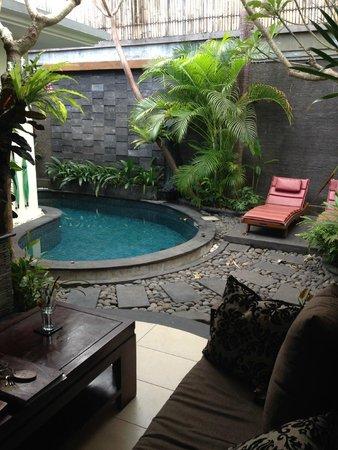 The Bali Dream Suite Villa Seminyak: Lounge & private pool
