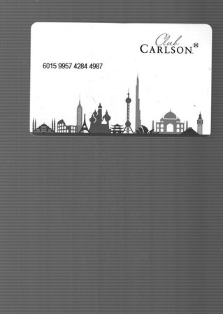Country Inn & Suites By Carlson Gurgaon Sector 12: Hotel key card
