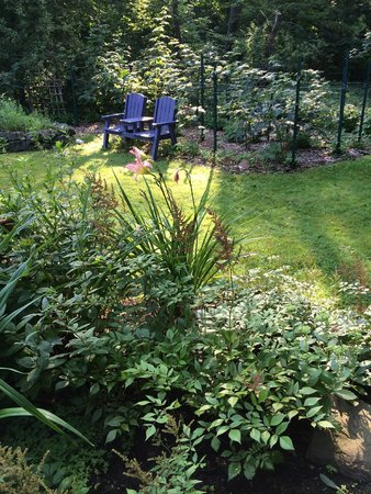 Inns at Blackberry Common : View of garden from Treetops Room