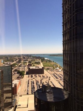 Detroit Marriott at the Renaissance Center: The view from the 37th floor.