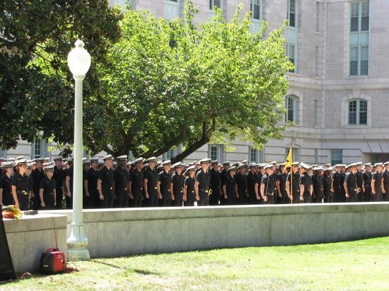 U.S. Naval Academy : If possible, don't miss the noon formation outside Bancroft Hall