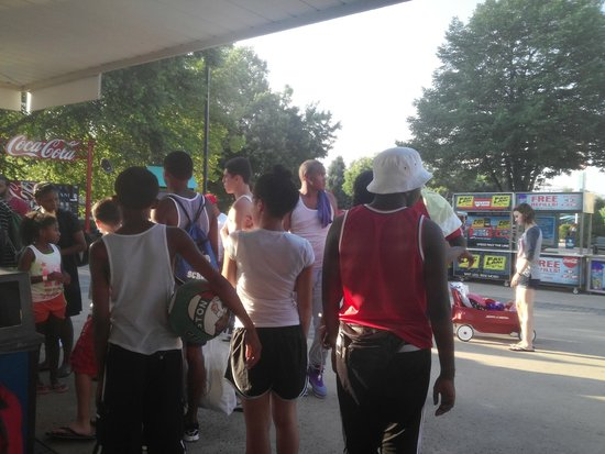 Dorney Park & Wildwater Kingdom : They walked out separate from others