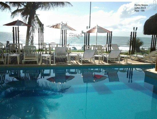 Elegance Ponta Negra Flat Beira Mar: Café da manhã com vista maravilhosa!